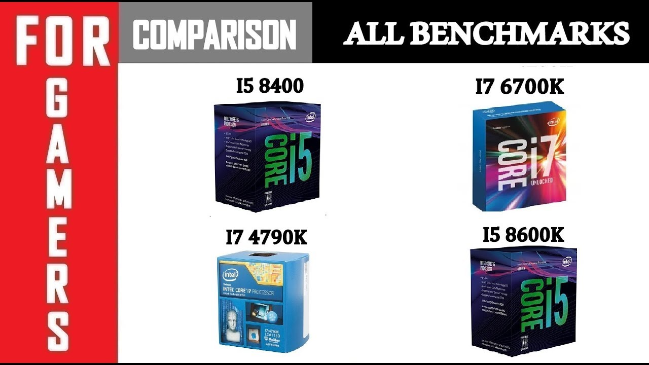 I5 8400 vs I7 6700K vs I7 4790K vs I5 8600K | GTX 1080TI | Comparison |