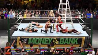 WWE 2K15 Money in the Bank PPV: Match 10: Divas Money in the Bank ladder match Part 1