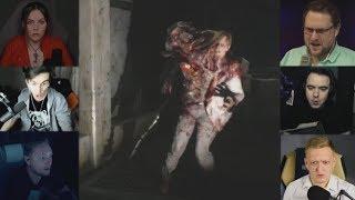 'Реакции Летсплейщиков' на Нападение Биркина из Resident Evil 2 Remake