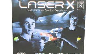 Лазер X Гри 2 Гравця Мікро-Бластер Набір Розпакування Огляд Іграшок