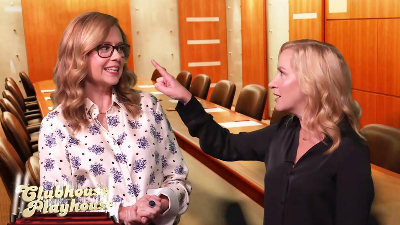 Angela Kinsey & Jenna Fischer's #RHOA Clubhouse Playhouse | WWHL