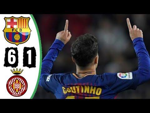 Barcelona 6 x 1 Girona   Melhores Momentos La Liga 24/02/2018 (HD)