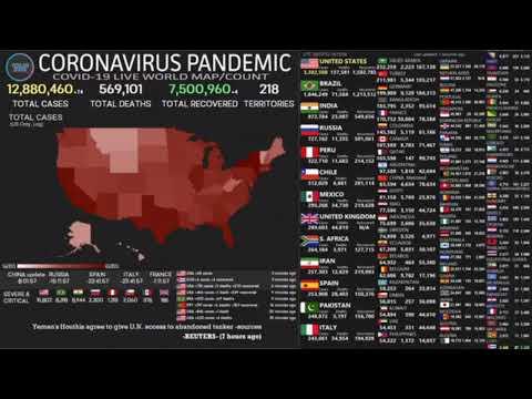 [LIVE] COVID -19- CORONAVIRUS WORLD MAP NEWS