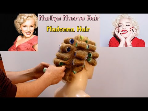 Madonna & Marilyn Monroe Hairstyles And Haircuts. (Make Hair Rolls)