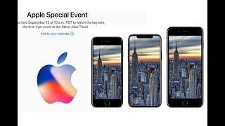 Apple Special Event September 2017 LIVE STREAM - IPhone X, IPhone 8, IPhone 8 Plus, IOS 11