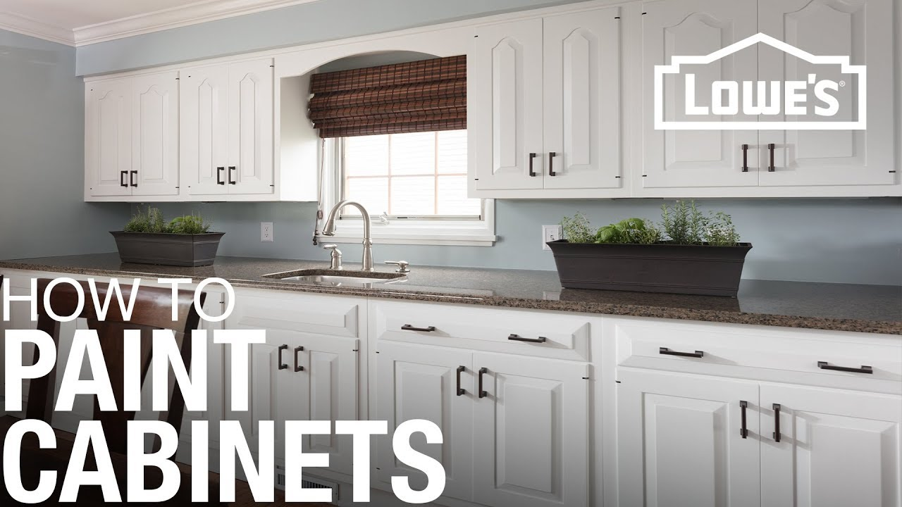 How To Paint Cabinets - YouTube