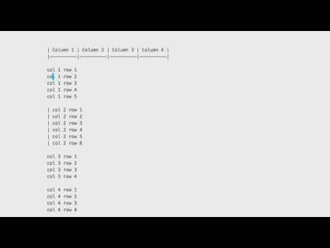 Demo: Markdown Lists To Tables In Sublime Text