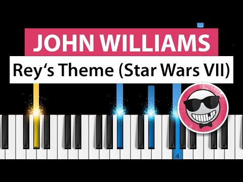 John Williams - Rey's Theme (Star Wars: The Force Awakens) - Piano Tutorial - How to Play
