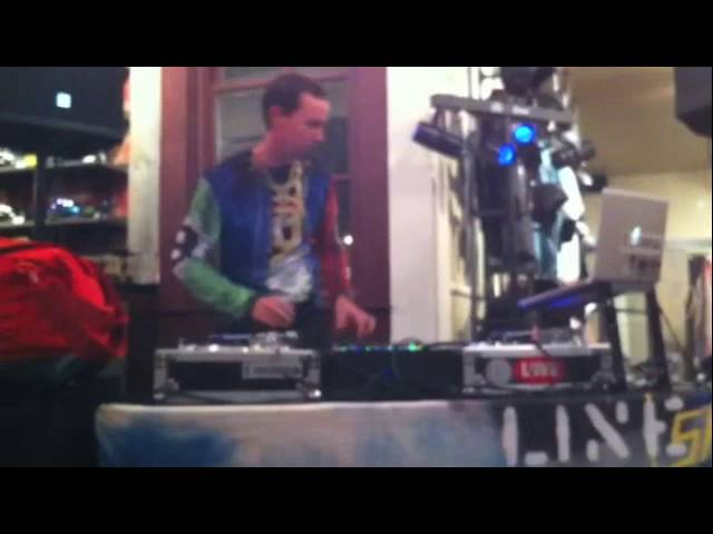 DJ'ing at a Snowboard Shop