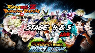 NEW BOSS RUSH IS NOW!! RUNNING STAGE 4 & 5 | 3 YEAR IS LIVE!! | DRAGON BALL Z DOKKAN BATTLE