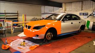 BMW E60 Gloss Orange Wrap