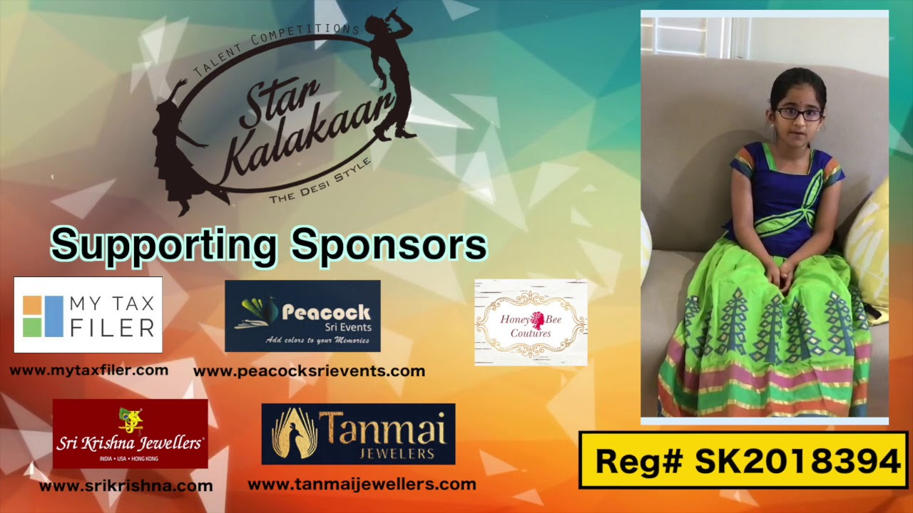 Participant Reg# SK2018-394 Introduction - US Star Kalakaar 2018 || DesiplazaTV