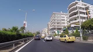 Greece Road to Athens City Center, Gopro / Grèce Route vers Athènes Centre ville, Gopro