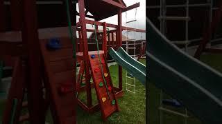 Обзор детской деревянной  площадки для дачи.