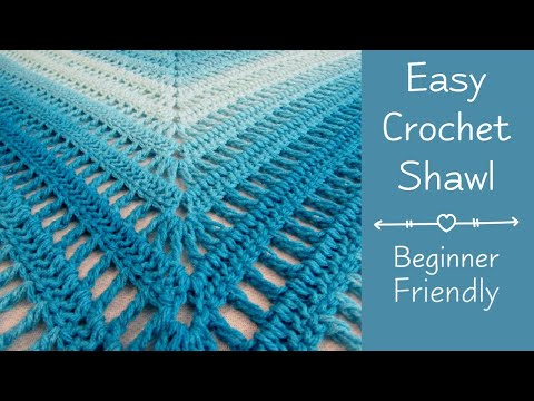 Easy Crochet Shawl For Beginners | Easy Crochet Shawl Beginning To End |