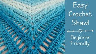 Easy Crochet Shawl For Beginners | Easy Crochet Shawl Beginning To End |