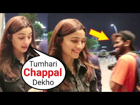 Alia Bhatt Sweet Behaviour With A Reporter At Mumbai Airport