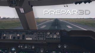 [Prepar3d v3] i7 6700k @ 4.4GHz INSANE GRAPHICS 747 Takeoff from Sydney Australia