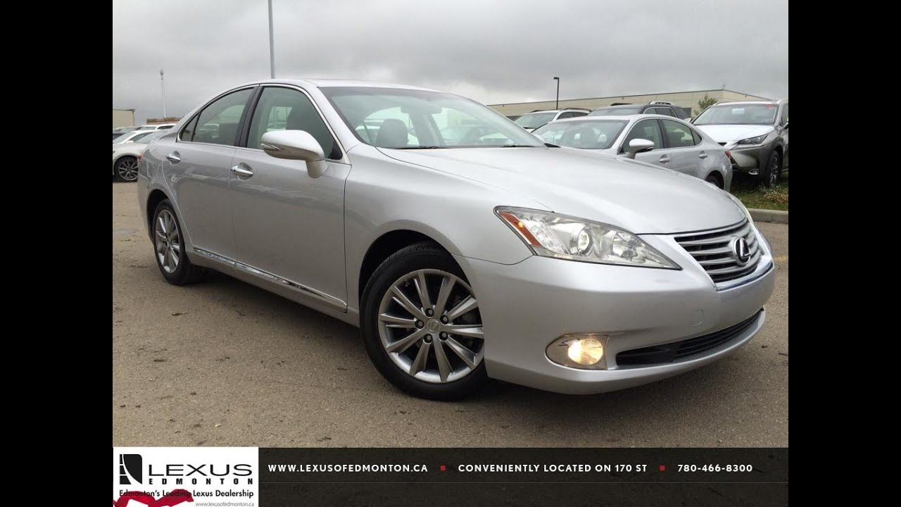 Pre Owned Silver 2011 Lexus ES 350 Touring Edition Review | Whitecourt  Alberta