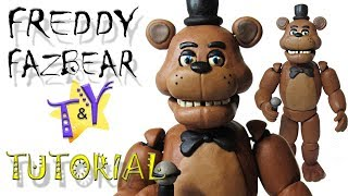 Как слепить Фредди Фазбера ФНАФ из пластилина Туториал Freddy Fazbear from clay Tutorial