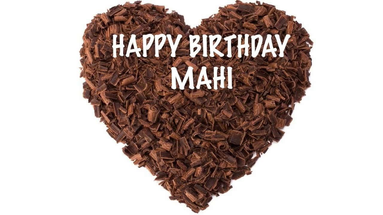 Birthday Cakes With Name Mahi ~ Mahi chocolate happy birthday youtube