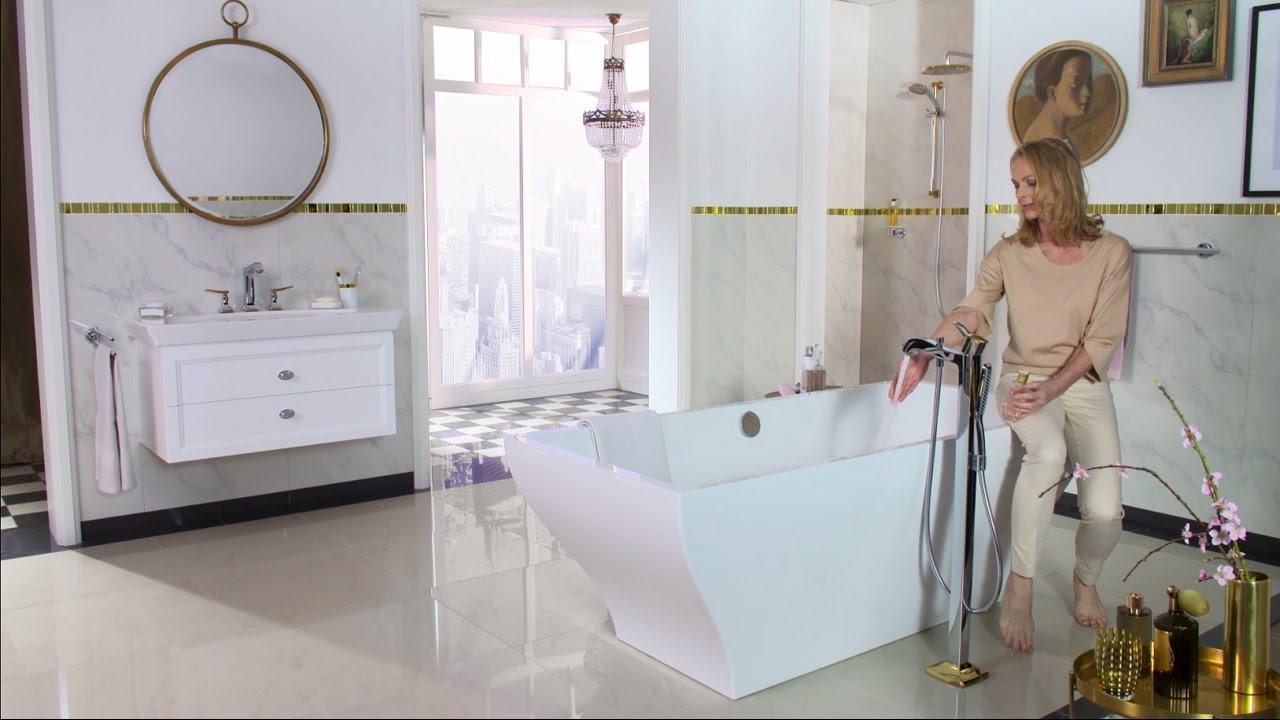 hansgrohe Metropol Classic bath mixer floor standing - YouTube