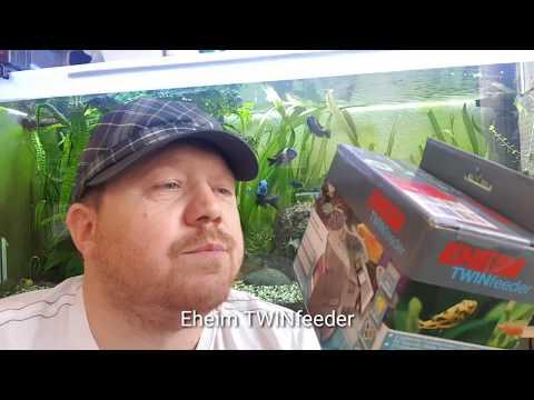 Futterautomat Eheim TWINfeeder|Unboxing|Installation |Programierung |Test|Vergleich mit Autofeeder