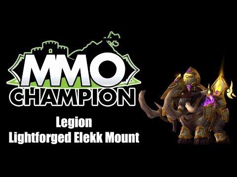 Patch 7.3 - Lightforged Elekk Mount
