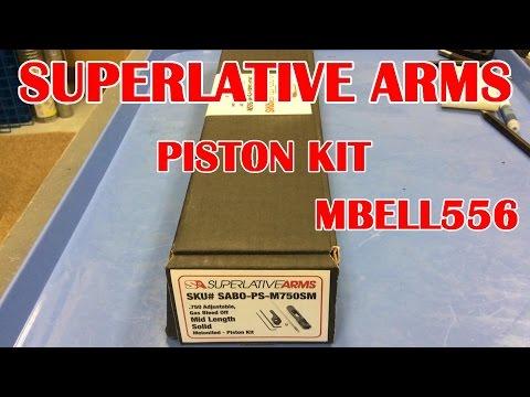 Superlative Arms Adjustable Gas Block AR-15 Piston Kit