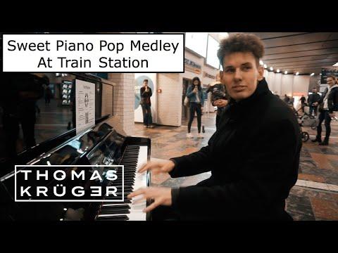 THOMAS KRÜGER – INSANE PIANO POP MEDLEY AT TRAIN STATION