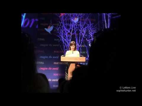 Sophie Hunter reading a letter for JK Rowling at