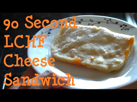 90 Second LCHF Cheese Sandwich | Full Fat Fridays