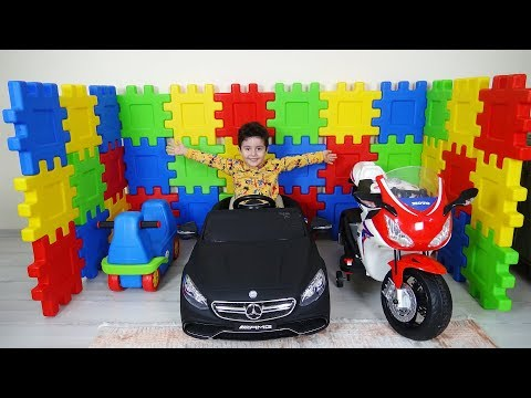 Yusuf Sihirli Kutulardan Araçlarına Garaj Yaptı | Kids pretend play with magic boxes