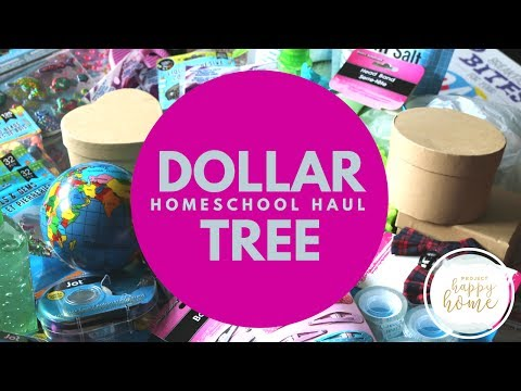 DOLLAR TREE HAUL    July 2017    Homeschooling Supplies, Homes Goods, and More!