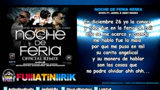 Dvice Ft. Jadiel & Baby Ranks - Noche De Feria (Official Remix) [Letra]