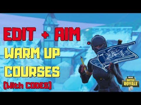 BEST EDITING & AIMING WARM UP COURSES (w/ CODES) | Fortnite
