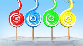 Learning Colors with 3D Lollipop for Kids Children Toddlers - Colours for Kids to Learn