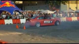 RMS powered drift monster crushes the Redbull car park drift competition in Lebanon 2011