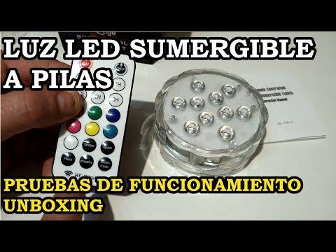 Unboxing. Luz LED Sumergible IP68 Qoolife. Pruebas de Funcionamiento