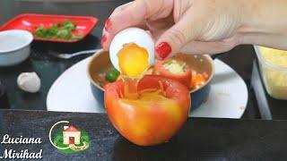 Você Já Comeu Tomate Recheado Com Ovos? Aprenda Aqui Como Preparar Essa Maravilha