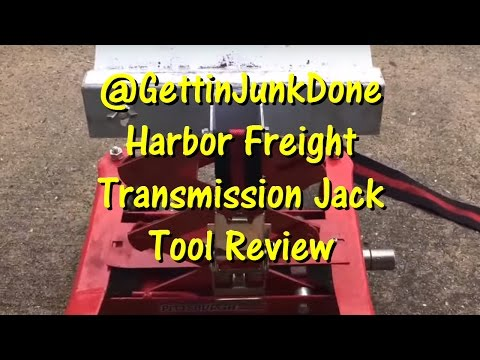 A Must Have Tool! Harbor Freight Transmission Jack @GettinJunkDone