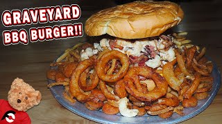 Graveyard Burger Challenge at Wagon Train BBQ in New York!!