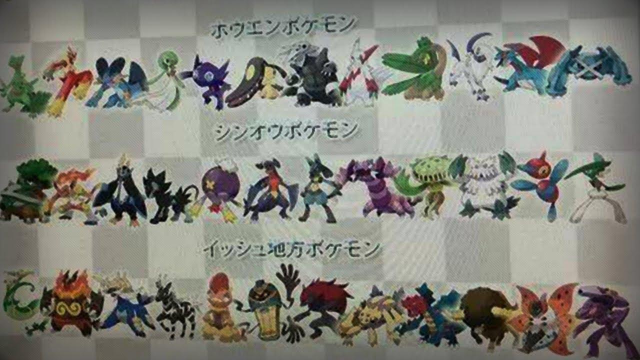 mega evolution list