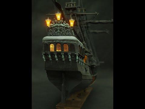 The all-scenario version of black pearl ship model kits