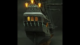 The all-scenario version of black pearl ship model kits