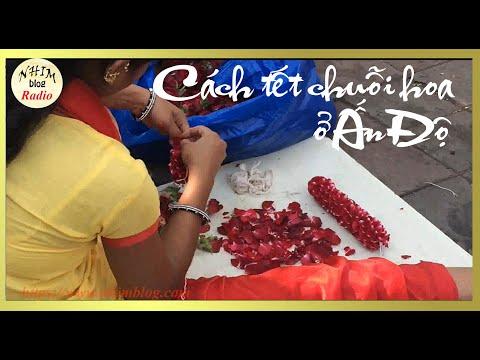 Cách tết chuỗi hoa cúng của Ấn Độ