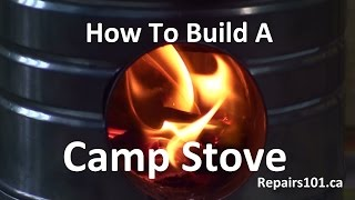 Camp Stove - How To Build A Portable BioMass Stove From Old Coffee Cans