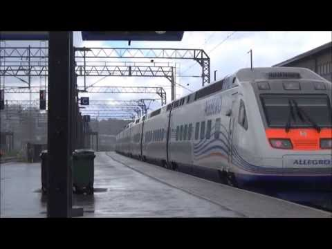 Allegro 784 arrives and departs Lahti station
