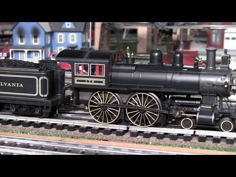 MTH Premier PRR D16d American (4-4-0) O-Gauge Steam Locomotive In True HD 1080p