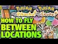 How to FLY Between Cities and Locations – Pokemon Let's Go Pikachu and Eevee FLY Secret Technique!